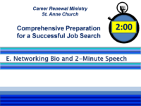 E-Networking Bio – 2 Min. Elevator Speech_PDF_Fall2018