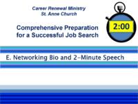 E-Networking Bio – 2 Min. Elevator Speech_PDF_Fall2018